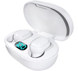 Купить Беспроводные Bluetooth наушники A6L TWS LED white