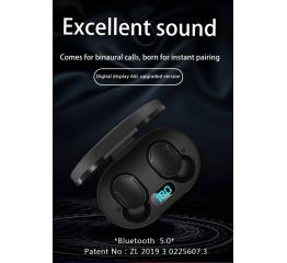 Купить Беспроводные Bluetooth наушники A6L TWS LED white в Украине