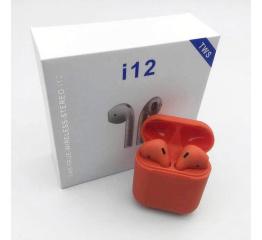 Купить Беспроводные Bluetooth наушники HBQ i12 TWS red в Украине