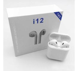 Купить Бездротові Bluetooth навушники HBQ i12 TWS white в Украине