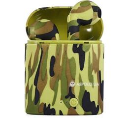 Беспроводные Bluetooth наушники HBQ i7S TWS camouflage green