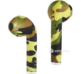 Купить Беспроводные Bluetooth наушники HBQ i7S TWS camouflage green в Украине