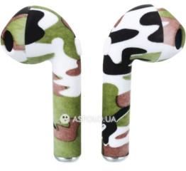 Купить Беспроводные Bluetooth наушники HBQ i7S TWS camouflage white-green-black в Украине
