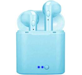 Беспроводные Bluetooth наушники i7 mini TWS blue