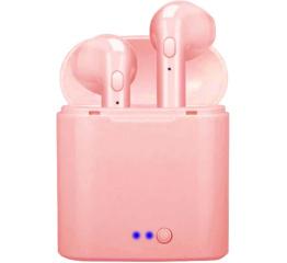 Беспроводные Bluetooth наушники i7 mini TWS pink