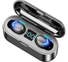 Купить Бездротові Bluetooth навушники TWS F9 LED black