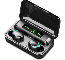Купить Беспроводные Bluetooth наушники TWS F9 Pro LED black