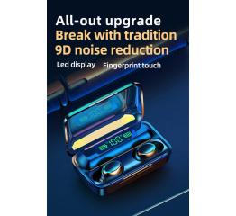 Купить Бездротові Bluetooth навушники TWS F9 Pro LED black в Украине