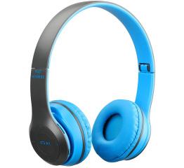 Купить Бездротові Bluetooth навушники Wireless P47 Blue