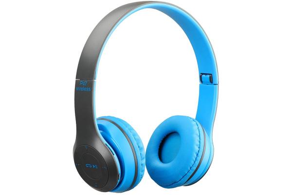 Беспроводные Bluetooth наушники Wireless P47 Blue