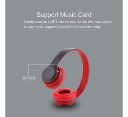 Купить Бездротові Bluetooth навушники Wireless P47 Original Red в Украине