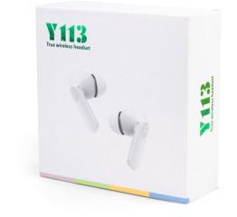 Купить Бездротові Bluetooth навушники Y113 TWS white в Украине