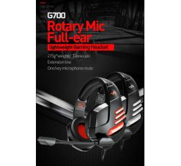 Купить Ігрові навушники Plextone G700 Black-red в Украине