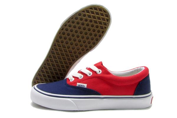 Женские кеды Vans Authentic красные с синим