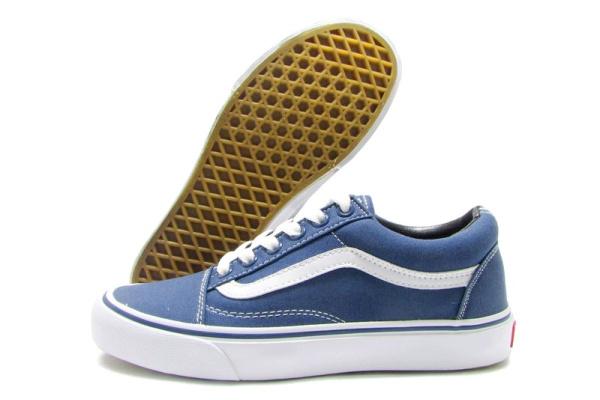 Женские кеды Vans Old Skool синие с белым