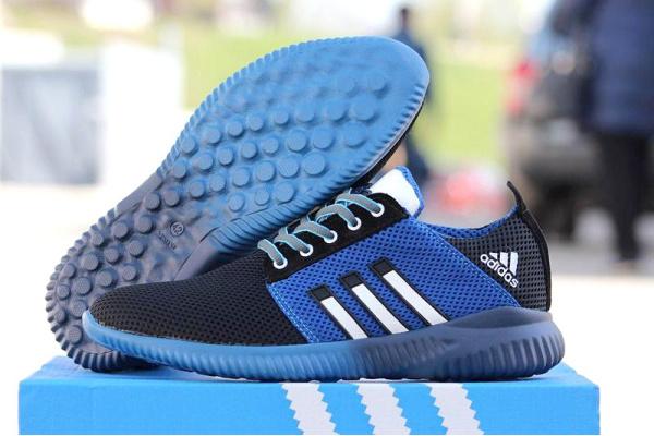 Мужские кроссовки Adidas Boost черные с синим