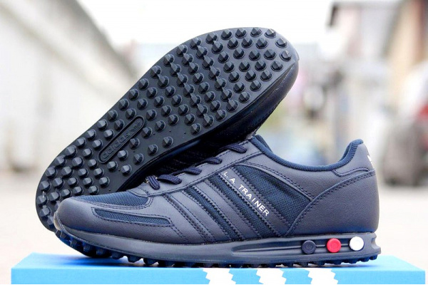 Мужские кроссовки Adidas L. A. Trainer темно-синие