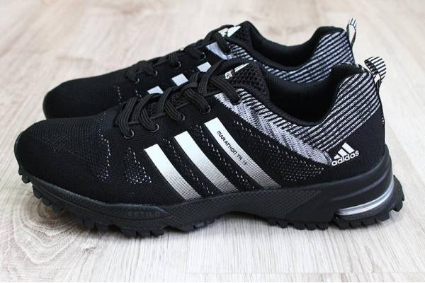 Мужские кроссовки Adidas Marathon TR 15 Flyknit черные
