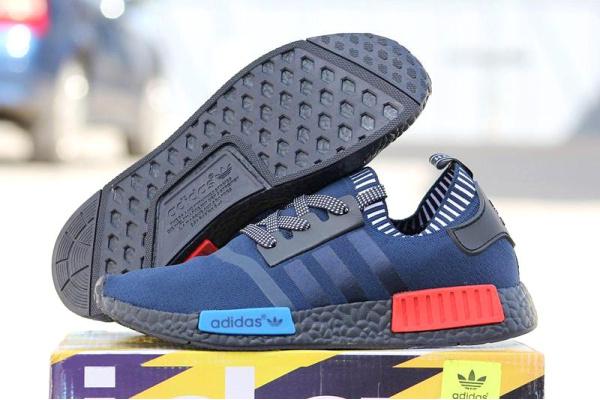 Мужские кроссовки Adidas NMD Runner PK синие с черным
