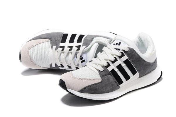 Мужские кроссовки Adidas Originals Equipment Suede белые с серым
