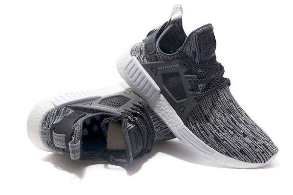 Мужские кроссовки Adidas Originals NMD XR1 серые с белым