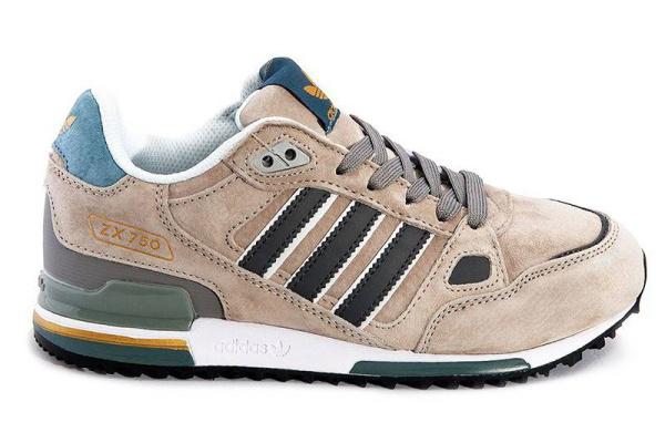 Мужские кроссовки Adidas Оriginals ZX750 бежевые