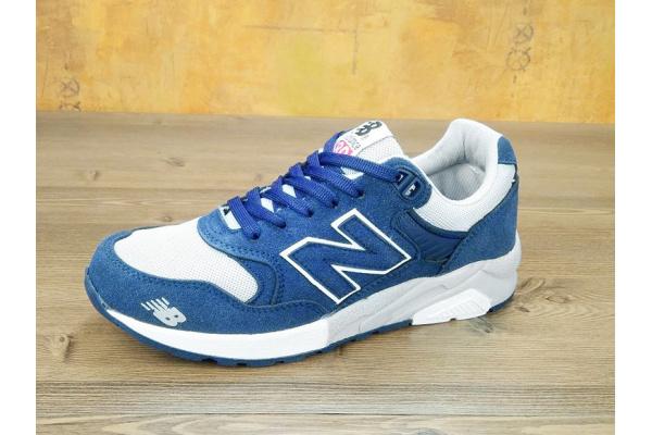 Женские кроссовки New Balance 580 синие с белым