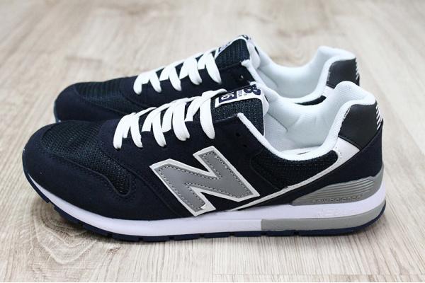 Мужские кроссовки New Balance 996 темно-синие с белым