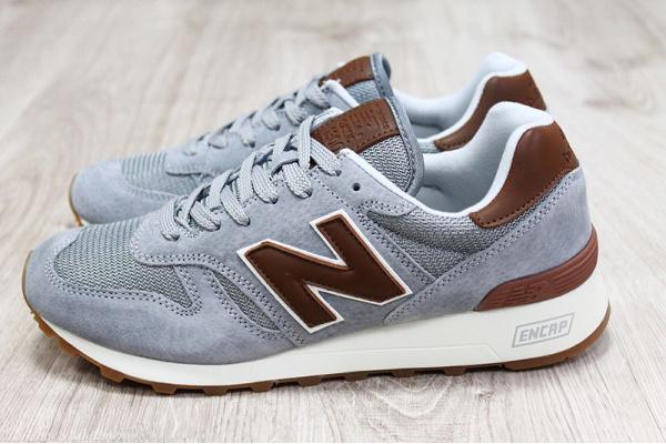 Мужские кроссовки New Balance Classic 1300 Encap серые с коричневым