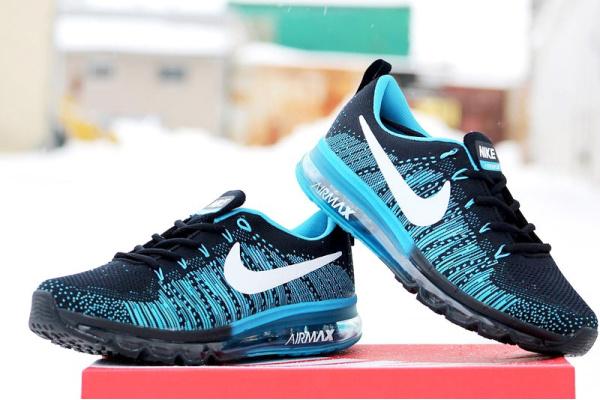 Мужские кроссовки Nike Air 2016 темно-синие с бирюзовым