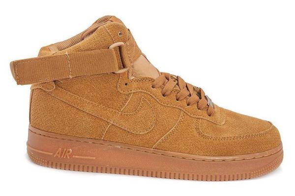 Мужские кроссовки Nike Air Force 1 High бежевые