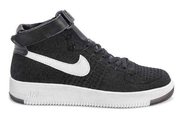 Мужские кроссовки Nike Air Force 1 High Flyknit черные
