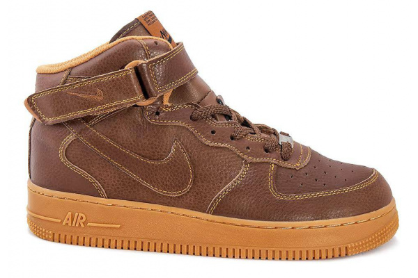 Мужские кроссовки Nike Air Force 1 High коричневые