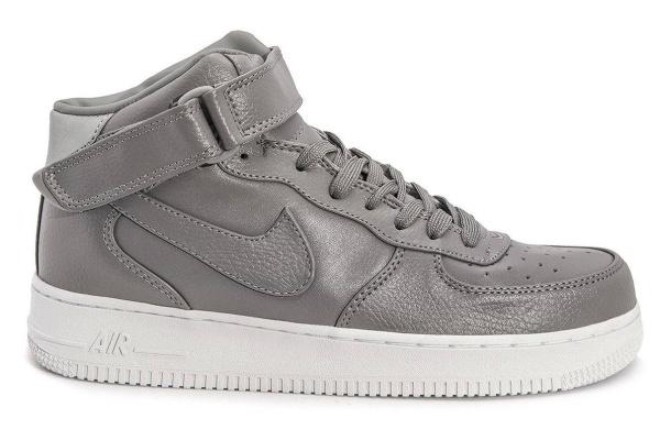 Мужские кроссовки Nike Air Force 1 High серые