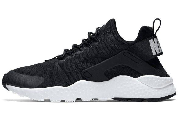 Мужские кроссовки Nike Air Huarache Ultra черные с белым