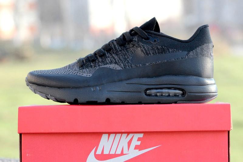 039f7ce8 Nike (Найк) кроссовки Air Max 1 Ultra Flyknit черные купить | ASPOLO