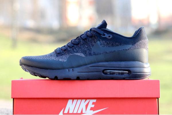 Мужские кроссовки Nike Air Max 1 Ultra Flyknit темно-синие