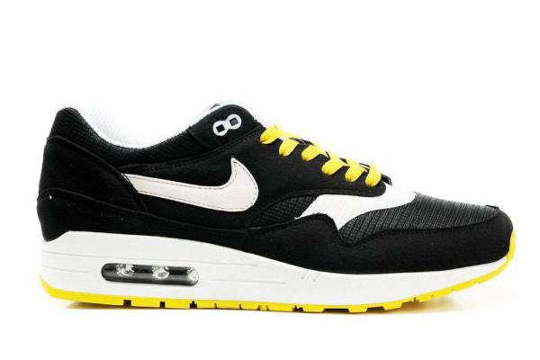 Мужские кроссовки Nike Air Max 87 черные с желтым