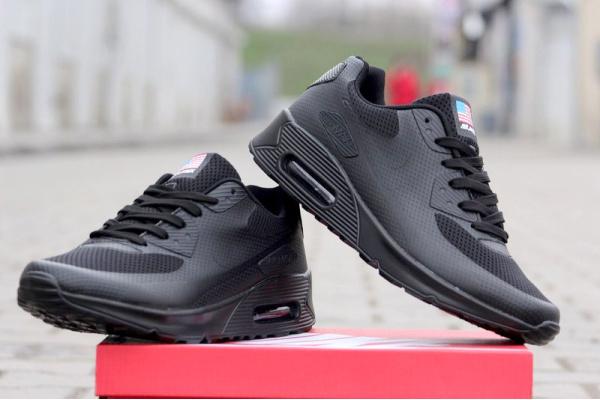 Мужские кроссовки Nike Air Max 90 Hyperfuse черные