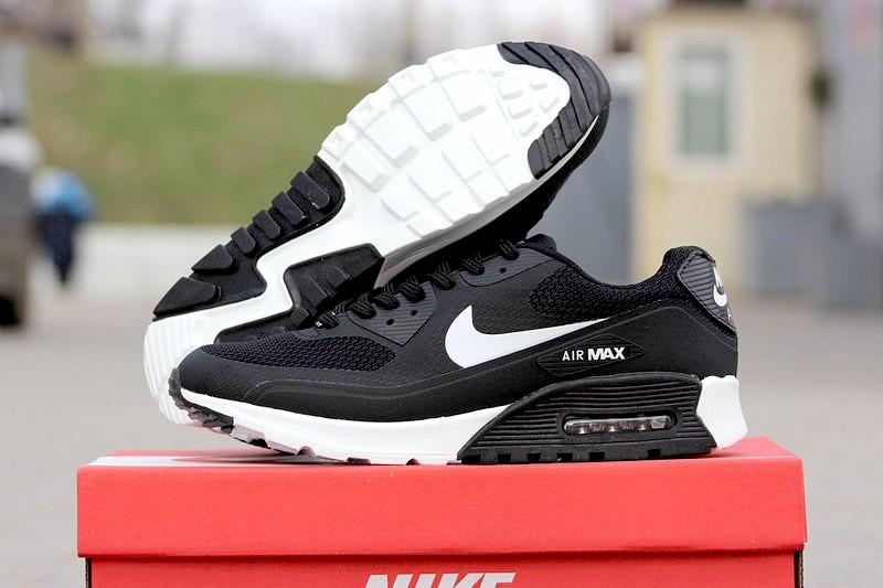 4a182e98 Nike (Найк) кроссовки Air Max 90 Hyperfuse черные с белым купить ...