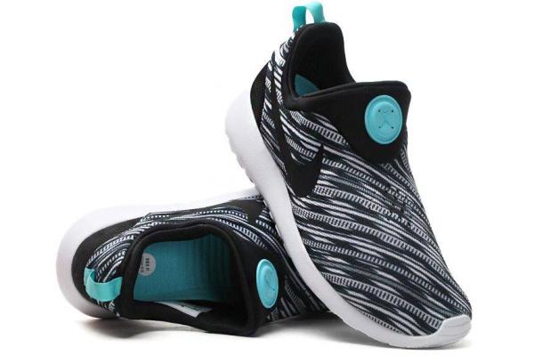 Мужские кроссовки Nike Roshe Run Slipon серые с бирюзовым