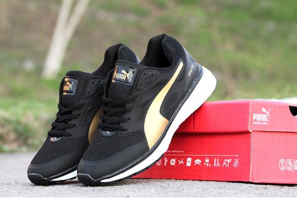 Мужские кроссовки Puma Ignite черные с золотом