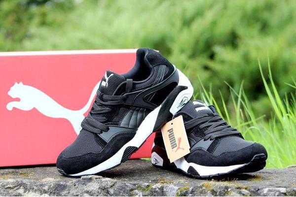 Мужские кроссовки Puma Trinomic R698 черные с белым