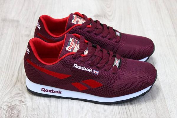 Мужские кроссовки Reebok Classic бордовые