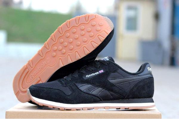 Мужские кроссовки Reebok Classic Leather черные