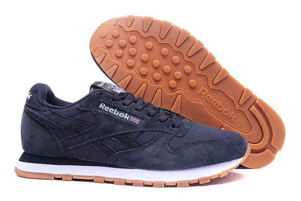 Мужские кроссовки Reebok Classic Suede темно-серые