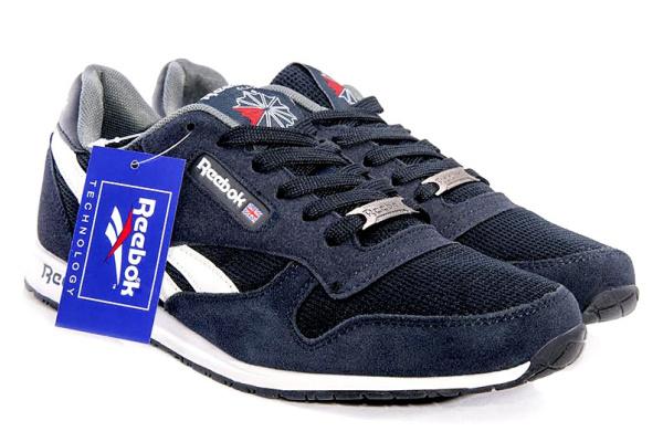 Мужские кроссовки Reebok Classic темно-синие