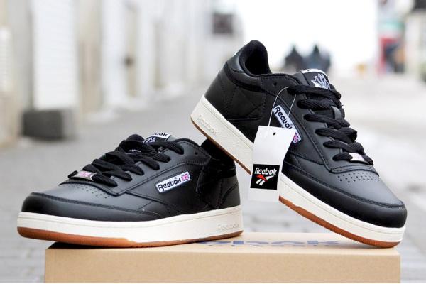 Мужские кроссовки Reebok Club C 85 черные