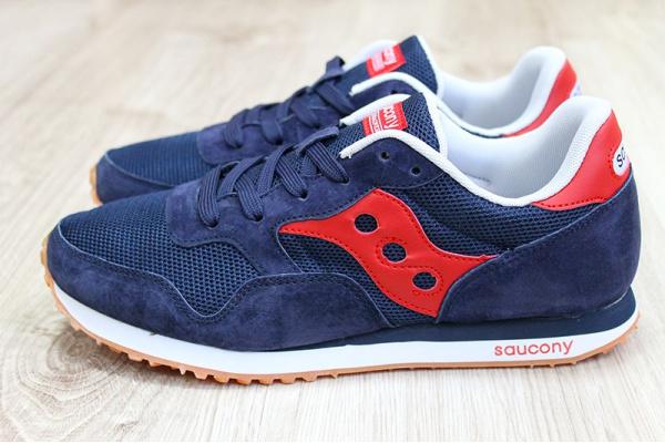 Мужские кроссовки Saucony DXN Trainer темно-синие с красным