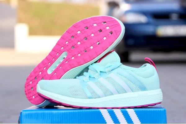 Женские кроссовки Adidas Fresh Bounce Climacool бирюзовые